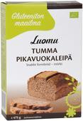 Kuva tuotteesta Gluteeniton Maailma Luomu Tumma Pikavuokaleipä