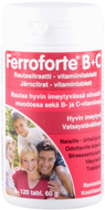 Kuva tuotteesta Ferroforte B + C rautatabletit