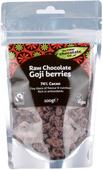Kuva tuotteesta The Raw Chocolate Company Raakasuklaalla kuorrutetut goji-marjat