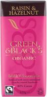 Kuva tuotteesta Green & Black Luomu Hasselpähkinä-Rusina Suklaa