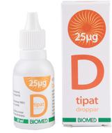 Kuva tuotteesta Biomed Lisäaineettomat D-vitamiinitipat