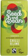 Kuva tuotteesta Seed and Bean Luomu Chili-Lime Suklaa