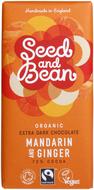 Kuva tuotteesta Seed and Bean Luomu Mandariini-Inkivääri Suklaa