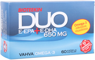 Kuva tuotteesta Bioteekin Omega Duo, 60 kaps