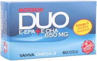 Kuva tuotteesta Bioteekin DUO E-EPA + E-DHA 650 mg, 60 kaps