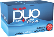Kuva tuotteesta Bioteekin DUO E-EPA + E-DHA 650 mg, 120 kaps