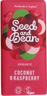 Kuva tuotteesta Seed and Bean Luomu Kookos-Vadelma Suklaa