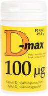 Kuva tuotteesta D-Max 100 mikrog, 90 tabl