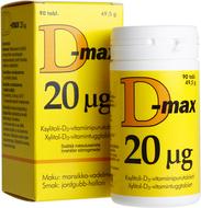 Kuva tuotteesta D-Max 20 mikrog, 90 tabl