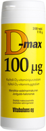 Kuva tuotteesta D-Max 100 mikrog, 200 tabl