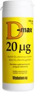 Kuva tuotteesta D-Max 20 mikrog, 200 tabl