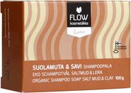 Kuva tuotteesta FLOW Kosmetiikka Suolamuta & Savi Shampoopala