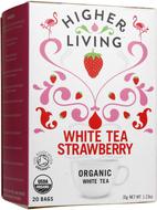 Kuva tuotteesta Higher Living Luomu Valkoinen mansikkatee