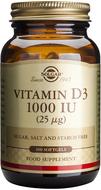 Kuva tuotteesta Solgar D3-vitamiini 25 mikrog, 100 kaps