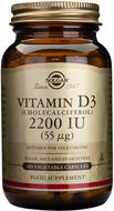 Kuva tuotteesta Solgar D3-vitamiini 55 mikrog kasvissyöjille, 100 kaps