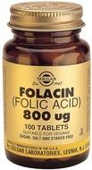 Kuva tuotteesta Solgar Foolihappo 800 mikrog, 100 tabl