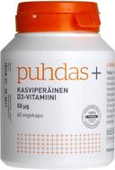 Kuva tuotteesta Puhdas+ Kasviperäinen D3-vitamiini, 50 mikrog, 60 kaps