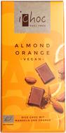 Kuva tuotteesta iChoc Luomu Riisimaitosuklaa Manteli-Appelsiini