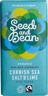 Kuva tuotteesta Seed and Bean Luomu Cornishin Merisuola-Lime Suklaa