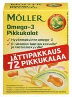 Kuva tuotteesta Möller Omega-3 Pikkukalat, 72 kpl