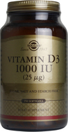 Kuva tuotteesta Solgar D3-vitamiini 25 mikrog, 250 kaps
