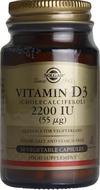 Kuva tuotteesta Solgar D3-vitamiini 55 mikrog kasvissyöjille, 50 kaps