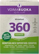 Kuva tuotteesta Voimaruoka 360 Wholefood Kookos, 5 x 50 g annospussi