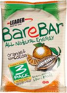 Kuva tuotteesta Leader BareBar Raakapatukka Appelsiini-Raakakaakao 3-pack