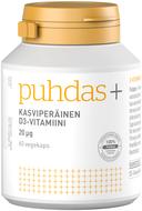 Kuva tuotteesta Puhdas+ Kasviperäinen D3-vitamiini 20 mikrog