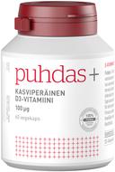 Kuva tuotteesta Puhdas+ Kasviperäinen D3-vitamiini 100 mikrog