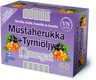 Kuva tuotteesta Omegat Mustaherukka + Tyrniöljy, 60 kaps