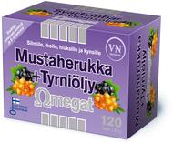 Kuva tuotteesta Omegat Mustaherukka + Tyrniöljy, 120 kaps