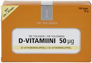 Kuva tuotteesta Tri Tolosen Vahva D-vitamiini 50 mikrog, 150 kaps