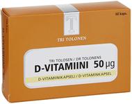 Kuva tuotteesta Tri Tolosen Vahva D-vitamiini 50 mikrog, 60 kaps