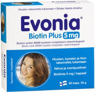 Kuva tuotteesta Evonia Biotin Plus 5 mg