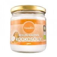 Kuva tuotteesta Foodin Luomu Kylmäpuristettu Kookosöljy, 400 ml