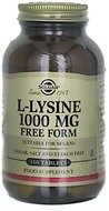 Kuva tuotteesta Solgar L-Lysiini 1000 mg, 100 tabl