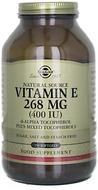 Kuva tuotteesta Solgar E-vitamiini 268 mg, 250 kaps