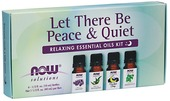 Kuva tuotteesta Now Foods Let There Be Peace & Quiet Relaxin Essential Oils Kit