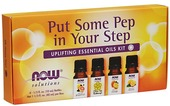 Kuva tuotteesta Now Foods Put Some Pep In Your Step Essential Oils Kit