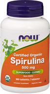 Kuva tuotteesta Now Foods Luomu Spirulina 500 mg