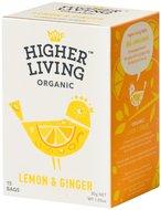 Kuva tuotteesta Higher Living Luomu Sitruuna-inkivääritee