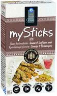 Kuva tuotteesta mySticks Gluteeniton Leipätikku Seesam-Auringonkukansiemen