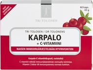 Kuva tuotteesta Tri Tolosen Karpalo + C-vitamiini