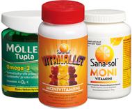 Kuva tuotteesta Koko perheen vitamiinipaketti (parasta ennen 24.04.2017)
