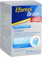 Kuva tuotteesta Efamol Brain säästöpakkaus 90+30kaps (parasta ennen 31.3.2017)