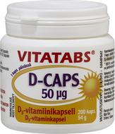 Kuva tuotteesta Vitatabs D-Caps 50 mikrog