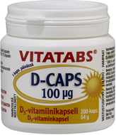 Kuva tuotteesta Vitatabs D-Caps 100 mikrog