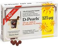 Kuva tuotteesta D-Pearls 125 mikrog, 120+40 kaps