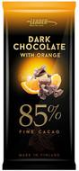 Kuva tuotteesta Leader Dark Chocolate 85 % Orange (parasta ennen 30.09.2017)